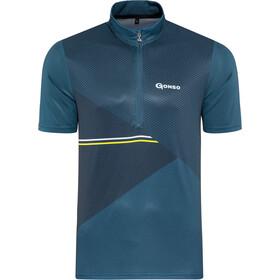 Gonso Ripo Half-Zip SS Bike Shirt Men, majolica blue